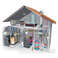 Монтаж системы отопления частных домов.